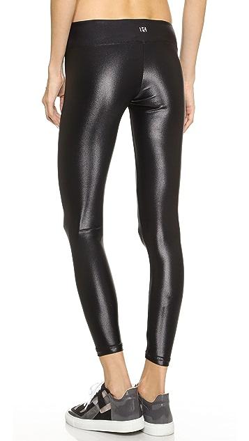 KORAL ACTIVEWEAR 闪光金属色运动贴腿裤