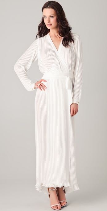 Kaelen Pleated Disco Maxi Dress