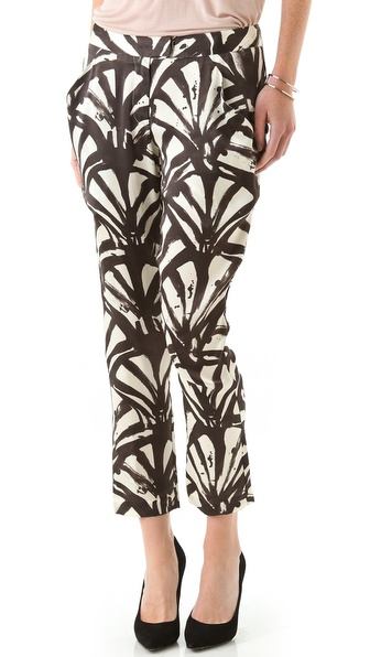 Kaelen Silk Ankle Pants