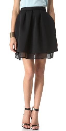 Kaelen Neoprene & Mesh Skirt