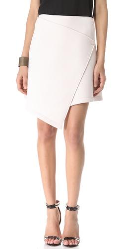 Kaelen Neoprene Wrap Skirt