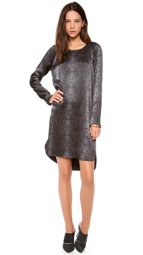 Kaelen Snake Print Raglan Sleeve Dress