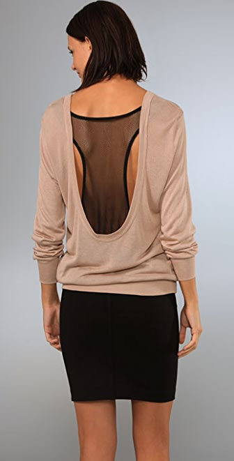 KAIN Label Mesh Back Sweater