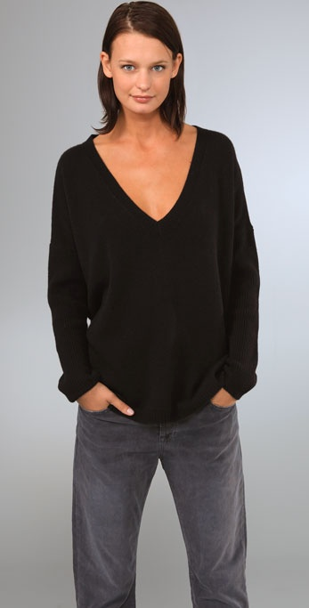 KAIN Label Cashmere Oversized V Neck Sweater