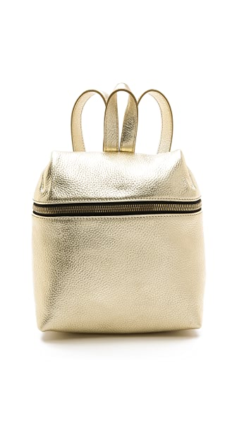 Kara Kara Metallic Small Backpack (Yellow)