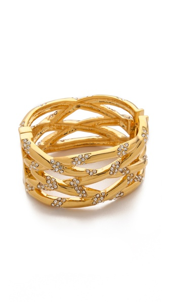 KARA by Kara Ross Braided Crystal Bangle