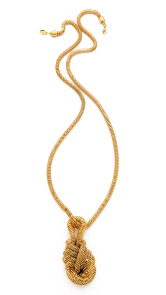 KARA by Kara Ross Snake Chain Knot Necklace