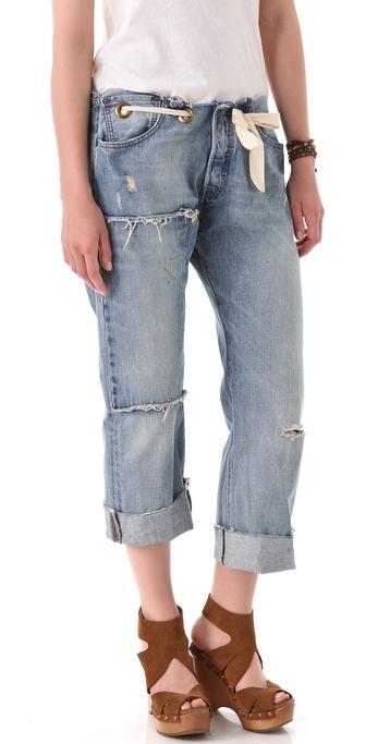 Karen Zambos Vintage Couture Grommet Jeans