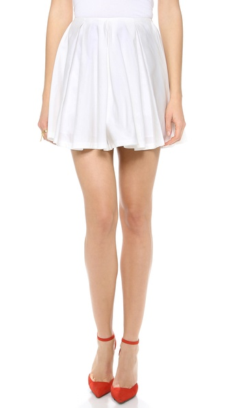 Karla Spetic Box Pleat Miniskirt