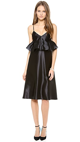 Karla Spetic Box Pleat A Line Dress