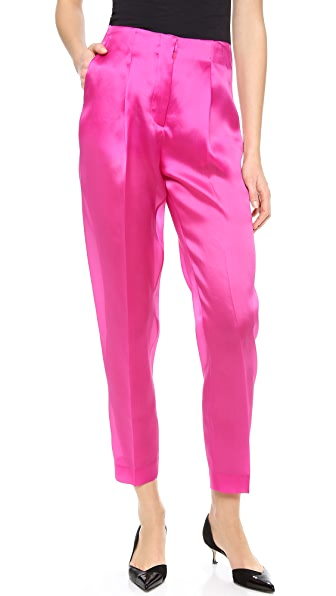Karla Spetic Silk Tailored Trousers