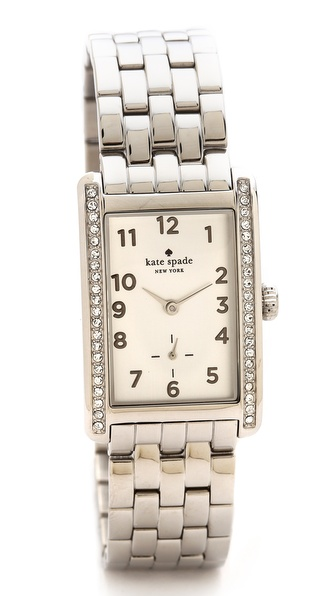 Kate Spade New York Cooper Grand Watch - Silver/Clear at Shopbop / East Dane