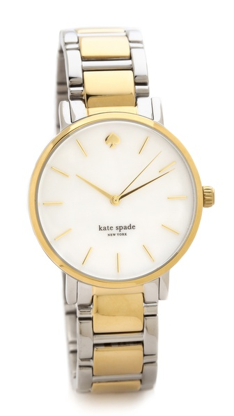 Kate Spade New York Two Tone Gramercy Bracelet Watch - Silver/Gold at Shopbop / East Dane