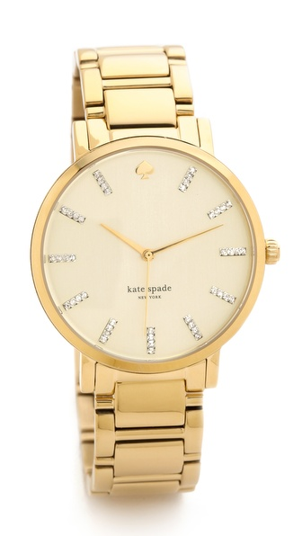 Kate Spade New York Gramercy Grand Watch With Crystal Markers - Gold at Shopbop / East Dane