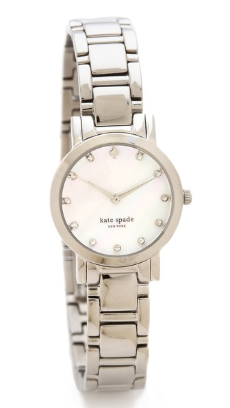 Kate Spade New York Gramercy Mini Crystal Marker Watch - Silver at Shopbop / East Dane