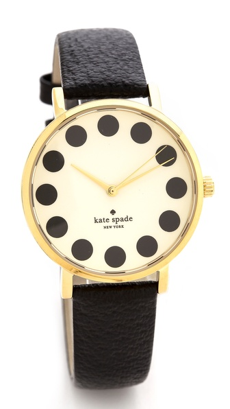 Kate Spade New York Metro Black Dot Watch - Black at Shopbop / East Dane