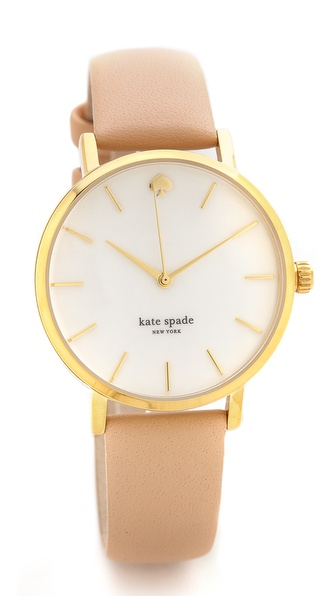 Kate Spade New York Metro Classic Watch - Vachetta at Shopbop / East Dane