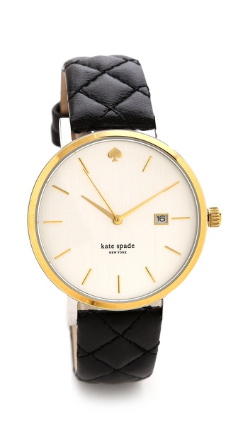 Kate Spade New York Metro Grand Quilted Watch - Black at Shopbop / East Dane