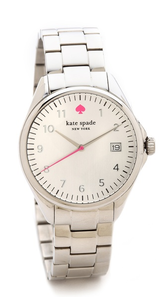 Kate Spade New York Seaport Grand Watch - Silver at Shopbop / East Dane
