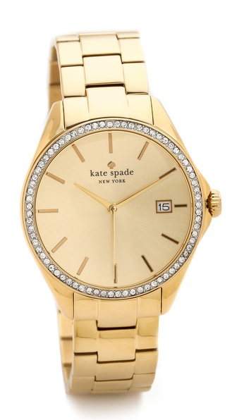 Kate Spade New York Seaport Grand Crystal Bezel Watch - Gold/Clear at Shopbop / East Dane