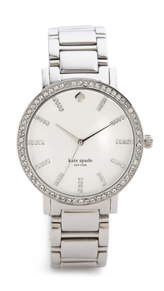 Kate Spade New York Gramercy Grand Pave Bracelet Watch - Silver/Clear at Shopbop / East Dane