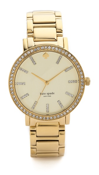 Kate Spade New York Gramercy Grand Pave Bracelet Watch - Gold/Clear at Shopbop / East Dane