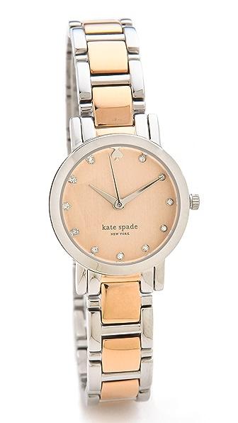 Kate Spade New York Gramercy Two Tone Mini Crystal Marker Watch