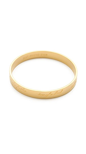 Kate Spade New York Engraved Bridesmaid Bangle Bracelet
