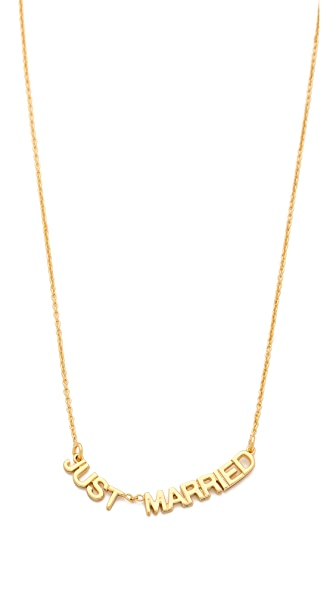 Kate Spade New York Say Yes Just Married Necklace