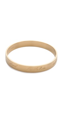 Kate Spade New York Engraved Bride Bangle Bracelet
