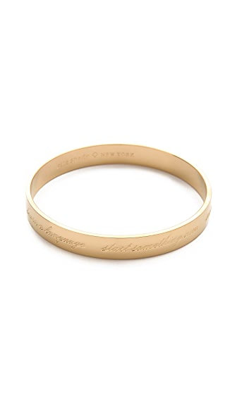Kate Spade New York This is the Year Engraved Bangle Bracelet