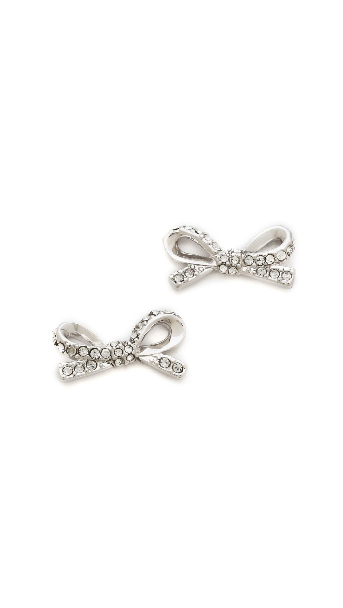 Kate Spade New York Skinny Mini Pave Bow Stud Earrings