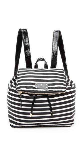 Kate Spade New York Pattern Backpack - Black/Cream at Shopbop / East Dane