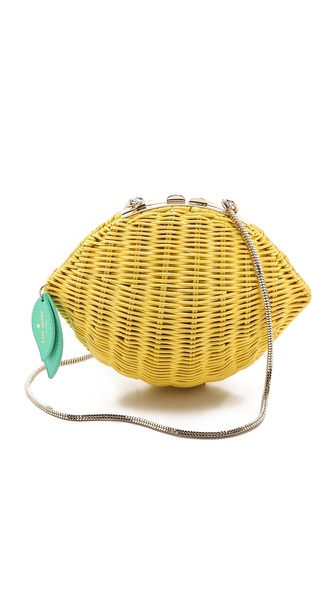 Kate Spade New York Wicker Lemon Shoulder Bag