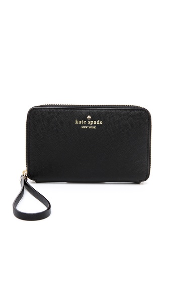 Kate Spade New York Laurie Phone Wristlet - Black at Shopbop / East Dane