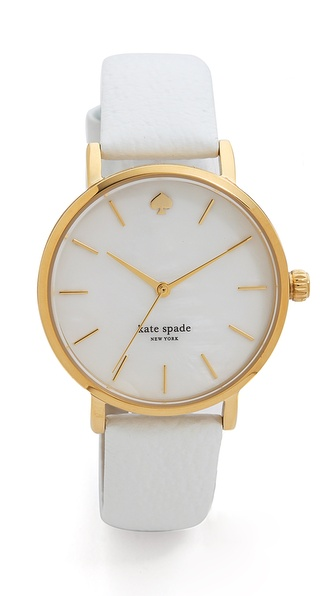 Kate Spade New York Metro Watch - White at Shopbop / East Dane