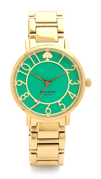 Kate Spade New York Gramercy Bracelet Watch - Bud Green at Shopbop / East Dane