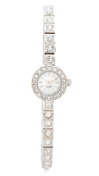 Kate Spade New York Pave Stainless Teeny Watch - Clear at Shopbop / East Dane