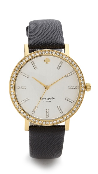 Kate Spade New York Metro Grand Crystal Marker Watch - Black at Shopbop / East Dane