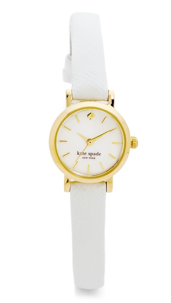 Kate Spade New York Tiny Metro Watch - White at Shopbop / East Dane