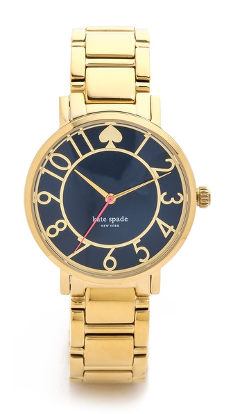 Kate Spade New York Gramercy Bracelet Watch - Navy at Shopbop / East Dane