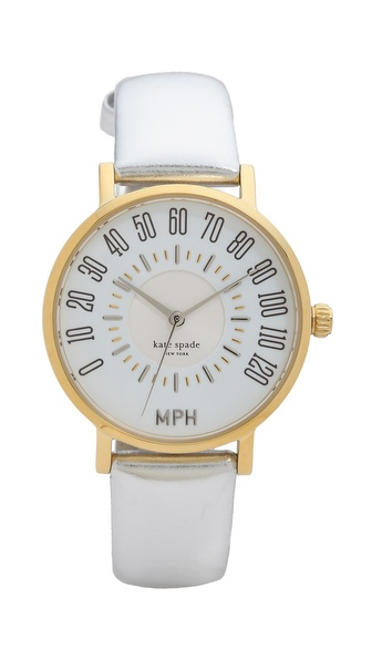 Kate Spade New York Metro Odometer Watch - Silver at Shopbop / East Dane