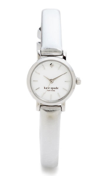 Kate Spade New York Tiny Metro Watch - Silver at Shopbop / East Dane