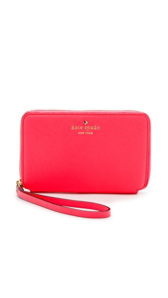 Kate Spade New York Cherry Lane Laurie Wristlet - Surprise Coral at Shopbop