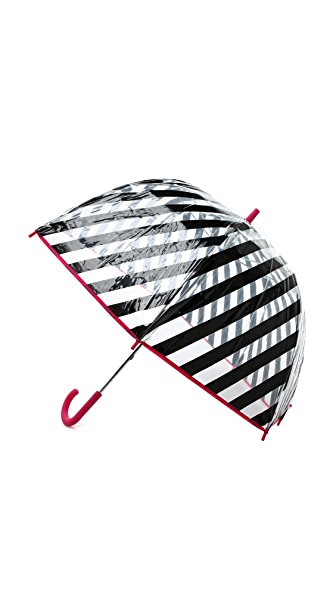 Kate Spade New York Black Stripe Umbrella