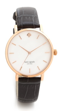 Kate Spade New York City Fog Croc Embossed Watch