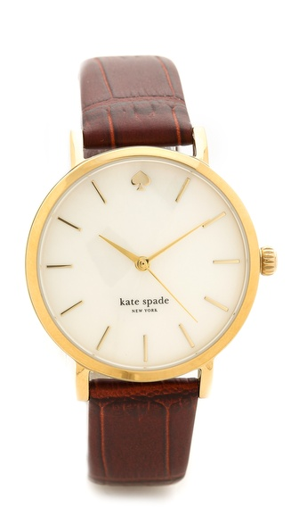 Kate Spade New York Embossed Croc Metro Watch