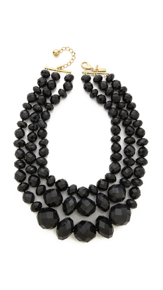 Kate Spade New York Give It A Swirl Triple Strand Statement Necklace