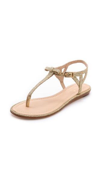 Kate Spade New York Andrea Metallic Flat Sandals