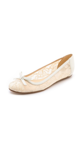 Kate Spade New York Banner Lace Flats - Ivory/Cream